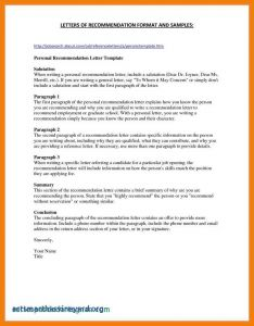 Nursing Letter Of Recommendation Template - Nursing School Re Mendation Letter Template Samples