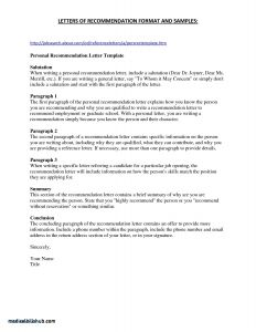 Nursing Letter Of Recommendation Template - Re Mendation Letter Sample for Graduate School From Employer