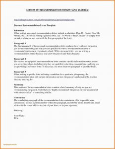 Nursing Letter Of Recommendation Template - Example Letter Re Mendation for Nursing Job Archives