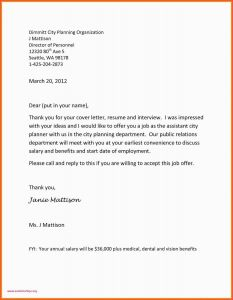 Offer Of Employment Letter Template Free - Scheduler Cover Letter Usa Jobs Cover Letter Awesome Job Fer Letter