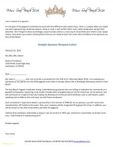 Pageant Sponsorship Letter Template - Sample Pageant Sponsor Letter