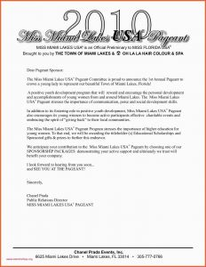 Pageant Sponsorship Letter Template - Examples Letters asking for Sponsorship Sponsorship Letter