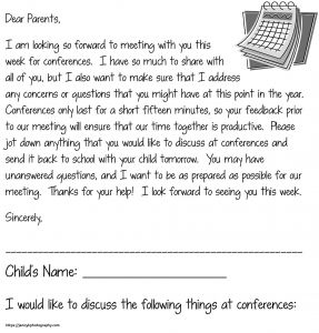 Parent Conference Letter Template - 30 Luxury Thank You to Parents From Teacher