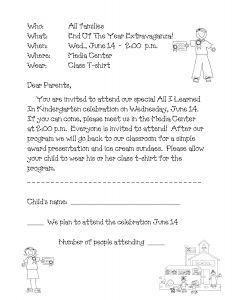 Parent Letter Template Back to School - Preschool Graduation Program Sample Google Search