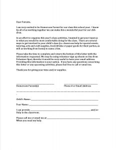 Parent Volunteer Letter Template - Parent Volunteer Letter Template Examples