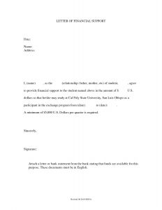 Parole Support Letter Template - Sample Parole Letters From Family