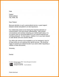 Patient Dismissal Letter Template - Patient Dismissal Letter for Behavior Template Collection
