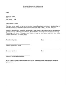 Payment Agreement Letter Template - Payment Arrangement Letter Template Gallery