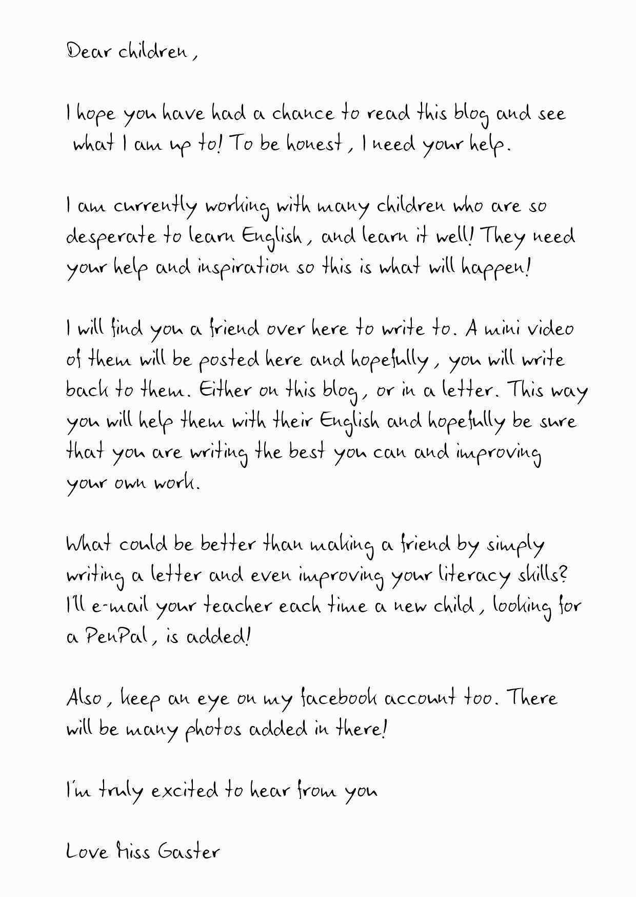 10 Pen Pal Letter Template Samples