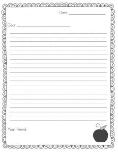 Pen Pal Letter Template - Pen Pal Letter Template Pdf