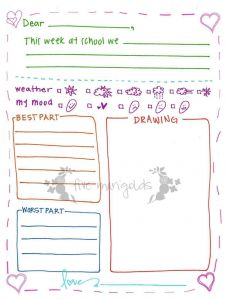 Pen Pal Letter Template - Best Pen Pal Letter Template for Kids