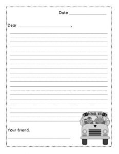 Pen Pal Letter Template Printable - Friendly Letter Writing Freebie Levelized Templates Up for Grabs