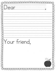Pen Pal Letter Template Printable - Pen Pal Letter Template 2nd Grade