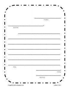 Pen Pal Letter Template Printable - Blank Letter Template Primary Fresh Letter Writing format Printable