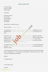 Perfect Cover Letter Template - Resume Letter Examples Fresh 22 New Cover Letter for Portfolio