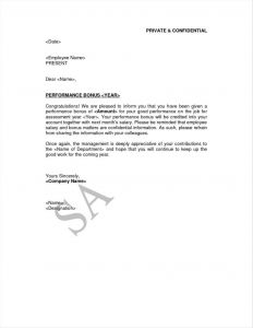 Performance Bonus Letter Template - Letter Template Private and Confidential Valid Private and
