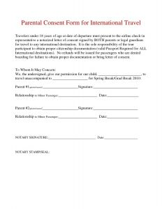 Permission to Travel Letter Template - Parental Consent Permission Letter Template Examples