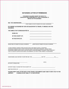 Permission to Travel Letter Template - Permission Letter format for College Parental Consent form Template