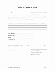 Permission to Travel Letter Template - Travel Consent Letter Template Samples