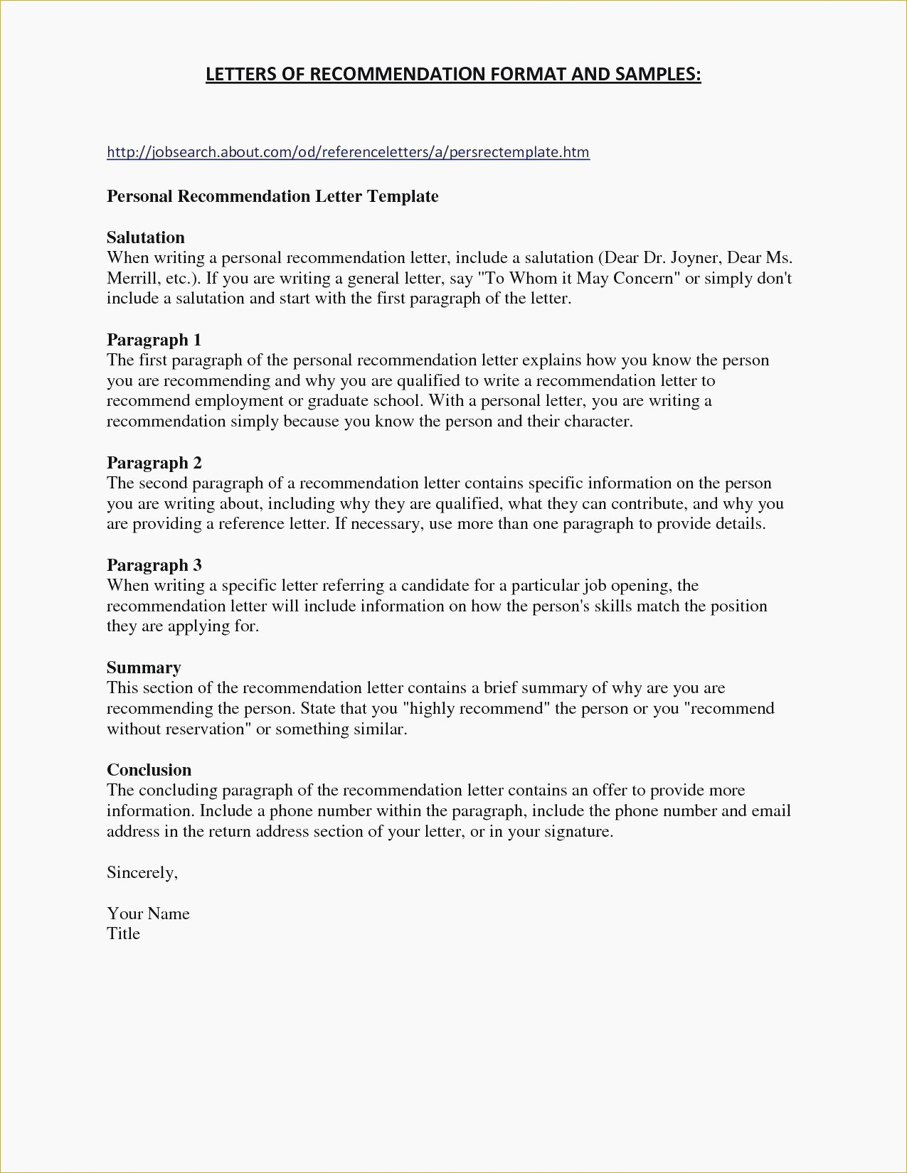 personal letter template word example-Gallery of Personal Reference Letter Template Word 8-k