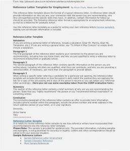 Personal Reference Letter Template Free - Personal Character Reference Letter Template Samples