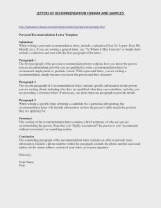Pet Reference Letter Template - Pet Adoption Letter Template Samples