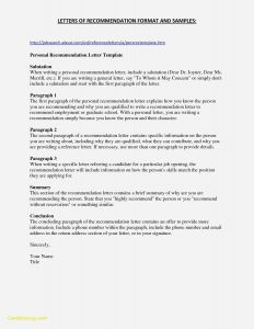 Pharmacy School Letter Of Recommendation Template - Fresh Student Letter Re Mendation Template