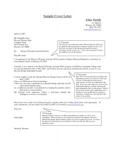 Physical therapist Cover Letter Template - Letter Re Mendation for Physical therapy School Template Sample