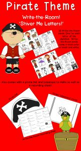 Pirate Letter Template - Talk Like A Pirate Day A Pirate themed Alphabet Write the Room