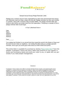Pledge Reminder Letter Template - Donation Reminder Letter Template Collection