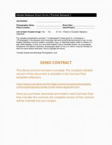 Pocket Letter Template - 22 Modeling Contract for Graphers Examples