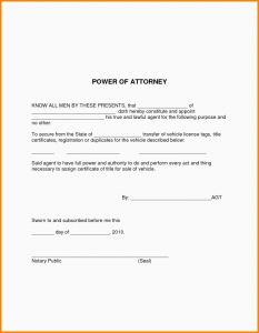 Power Of attorney Resignation Letter Template - Poa Letter Resignation