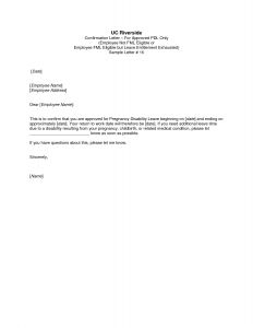 Pregnancy Confirmation Letter Template - Pregnancy Confirmation Letter to Employer Template