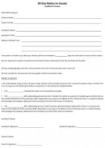 Prepayment Letter Template - Month to Month Lease Termination Letter Template Gallery