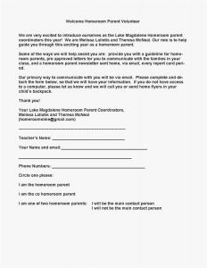 Preschool Parent Letter Template - Parent Letter to Child Template Samples