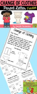 Preschool Parent Letter Template - Change Of Clothing Parent Letter Freebie