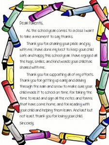 Preschool Welcome Letter to Parents From Teacher Template - End Of School Letter to Parents … Classroom
