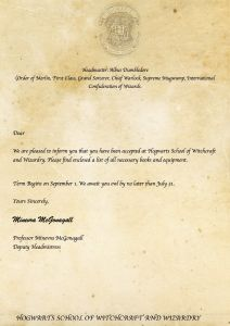 Printable Hogwarts Acceptance Letter Template - Printable Hogwarts Acceptance Letter Template Editable Letter From
