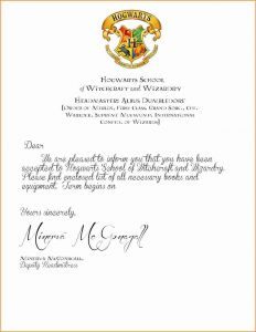 Printable Hogwarts Acceptance Letter Template - Hogwarts Acceptance Letter Envelope Template Printable Examples