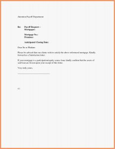 Private Mortgage Payoff Letter Template - Private Mortgage Payoff Letter Template Examples
