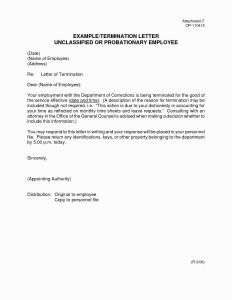 Probation Termination Letter Template - Termination Employment Letter Template Inspirational Employment