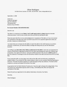 Promise to Pay Letter Template - Sample Pay for Delete Letter for Credit Report Cleanup