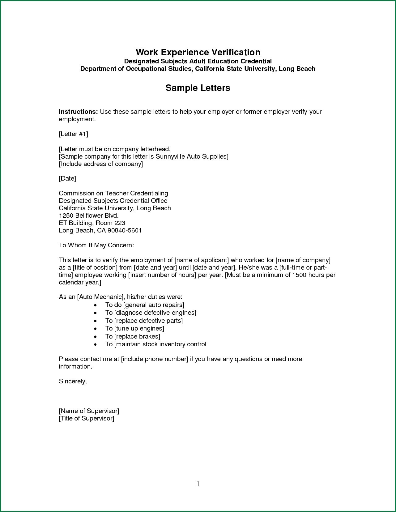 proof of employment letter template Collection-proof of employment letter template 11-i