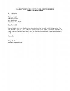 Proof Of Funds Letter Template - Sample Verification Employment Letter for Bank Save Zoning