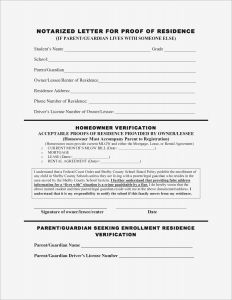 Proof Of School Enrollment Letter Template - Proof Residency Letter Template Word Collection