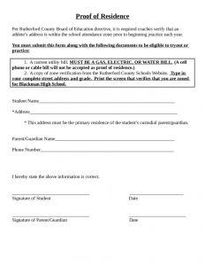 Proof Of School Enrollment Letter Template - Residence Verification Letter Sample