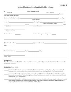 Proof Of School Enrollment Letter Template - Free Proof Residency Letter Template Samples