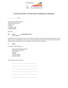 Real Estate Letter Of Intent Template - Free Real Estate Letter Intent Template top Best Letter Intent to