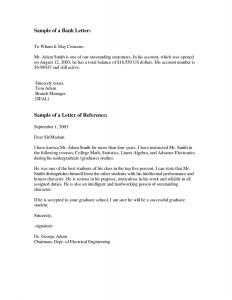 Reference Letter Template Samples - Letter Outline Template Sample