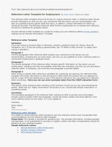 Reference Letter Template Samples - Employment Reference Letter Example Fresh Resume Reference List
